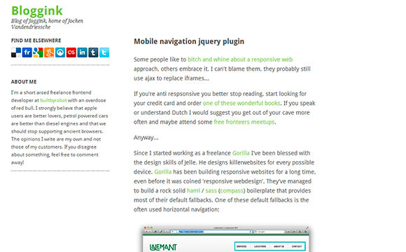 Mobile Navigation jQuery Plugin