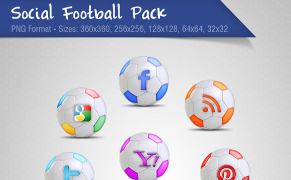 Freebies: Football Social Icon Set