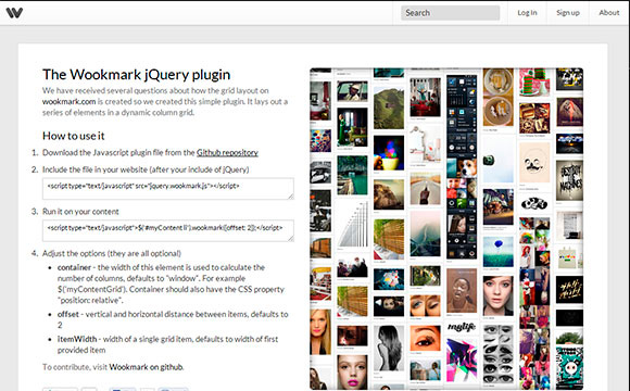 The Wookmark jQuery Plugin