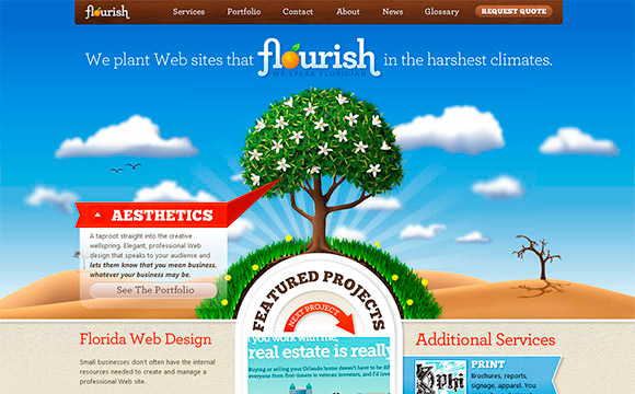Flash-Buster: 40 Sites Built with Mark-Up That Challenge Flash