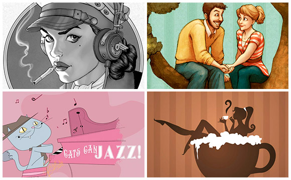 45 Cool Retro Style Illustrations for Your Inspiration