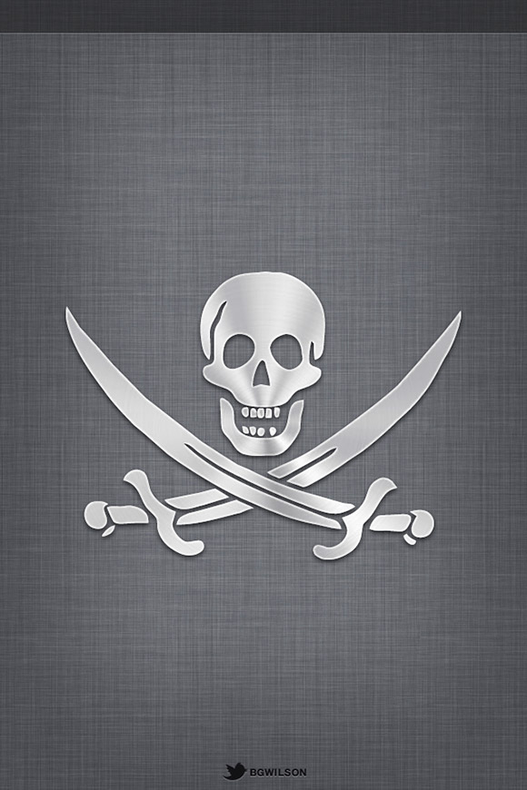 Textured Pirate Brushed Wallpaper