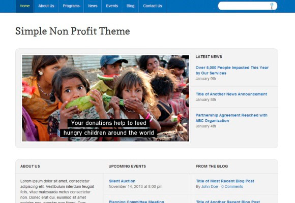 Simple Non-Profit Theme