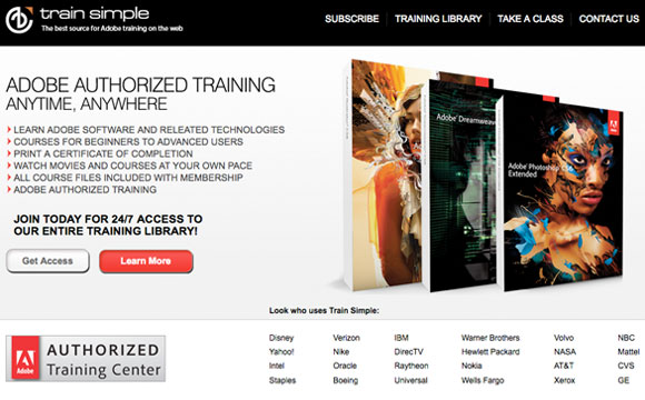 Adobe Training Giveaway: 5 X TrainSimple Annual Memberships Free