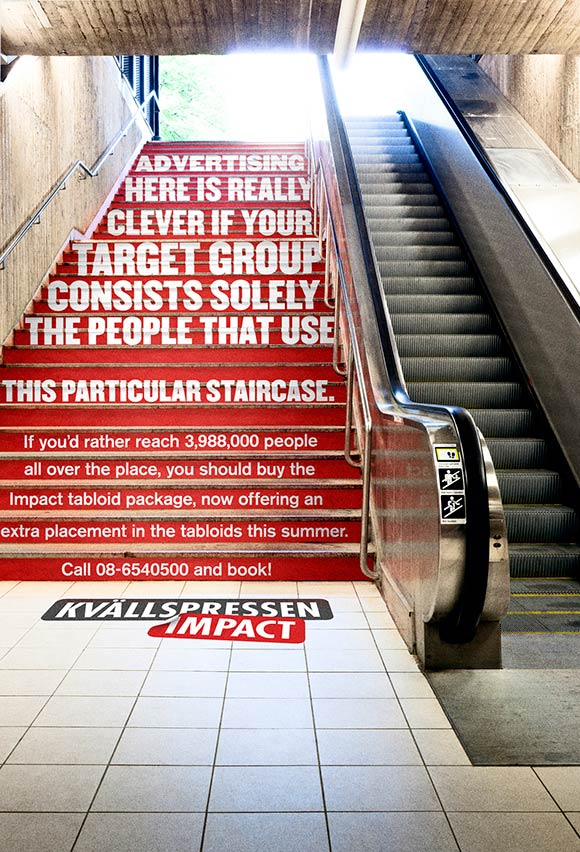 Kvallspressen Impact: A really unalternative media, Stairs