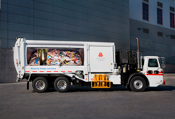 Norcal Waste Systems: Recycling Promotion, Garbage Truck, Redwood