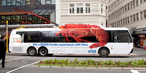 VISA, Wellington On a Plate Culinary Festival: Giant Lobster Bus