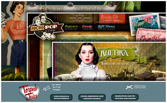 45 Great Examples of Retro Web Design