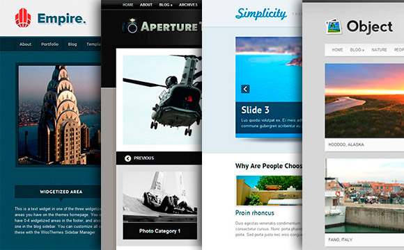 20 Beautiful and Customizable Themes from WooThemes