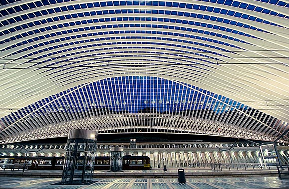 Inside Liege-Guillemins Station