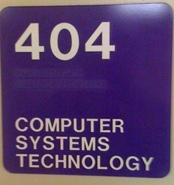 My computer lab at school is literally 404