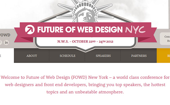 10% Discount Offer: The Future of Web Design Conference 2012