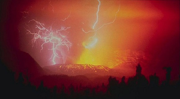 Lightning Over Volcanoes
