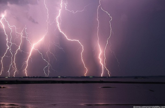 Lightning Over Floodwaters