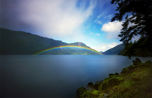 Crescent Lake Rainbow, 45 Seconds
