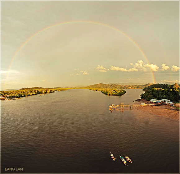Rainbow Over Mengkabung Cove