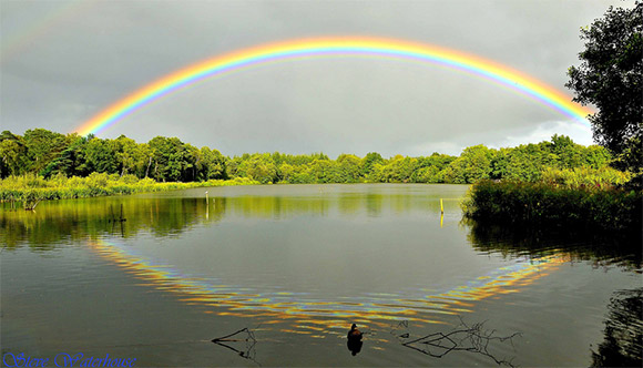 Rainbow over Stover Lake