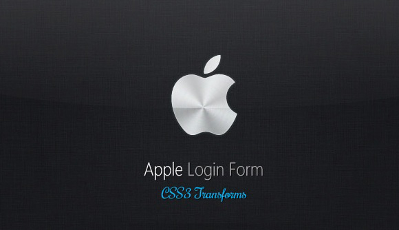 Apple like Login Form