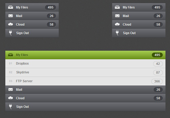 CSS3 Accordion Menu