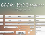 Freebies: Free Cool Metallic and Glassy Web GUI Pack for Designers