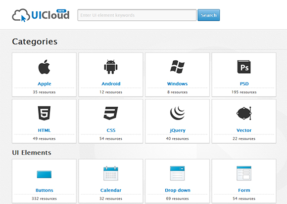 UICloud Categories