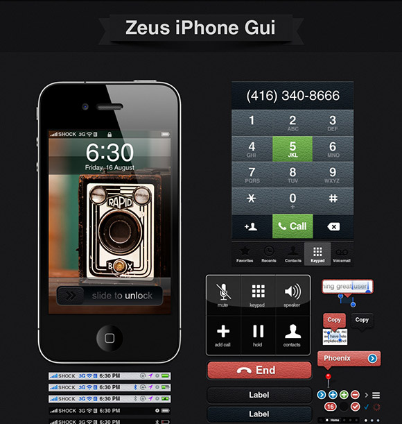 Zeus iPhone GUI