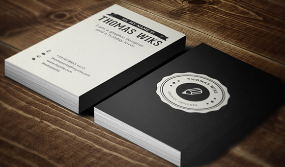 Creative Retro Business Card