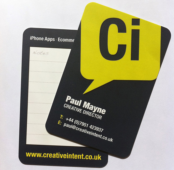 Creative Intent Business Cards