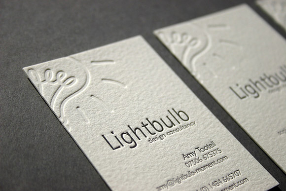 Deboss & Ink Letterpress Business Cards