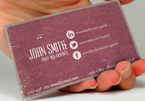 Social Vintage Business Card