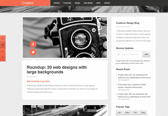 Creative+ Blog Template