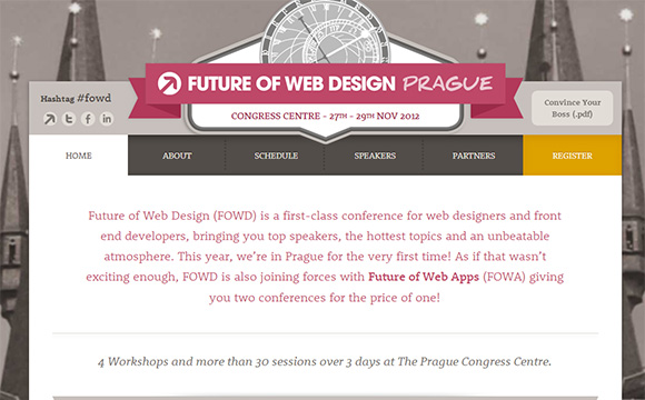 Future of Web Design (FOWD) is arriving at Prague this November
