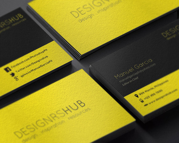Free Minimal Business Card Design PSD Template