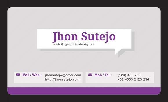 Elegant Callout Business Card Template