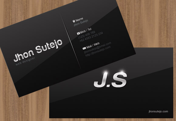 Elegant Dark Business Card Template