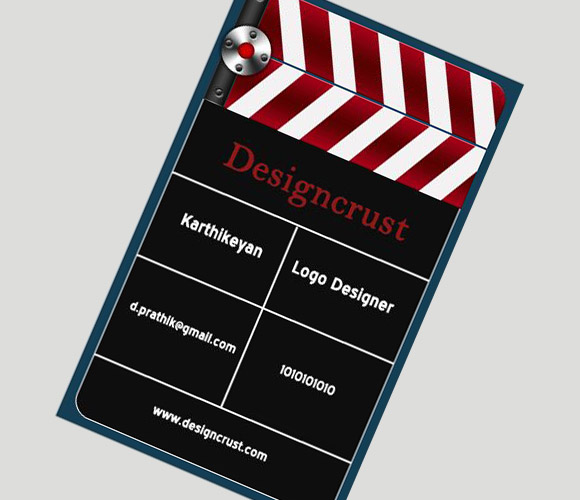 Create a Movie Clapper Board Business Card