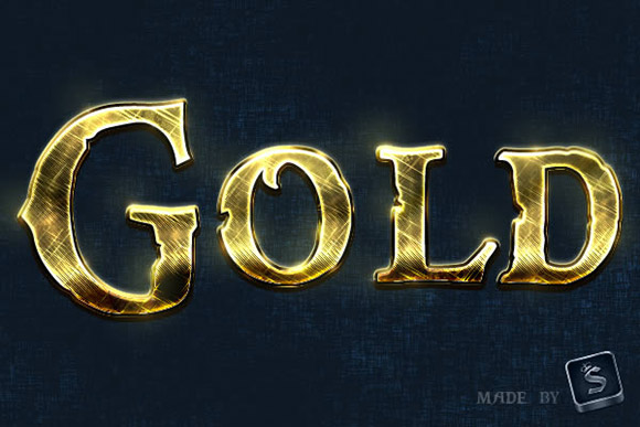Create a Shiny, Gold, Old-World Text Effect in Photoshop