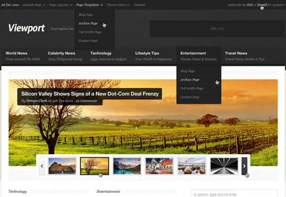 Viewport PSD Theme