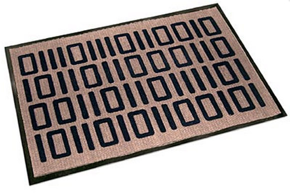 Welcome In Binary Floor/Door Mat
