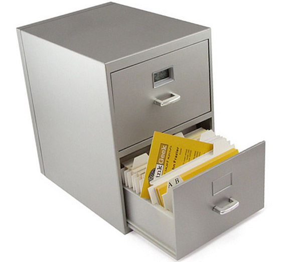 Mini Business Card File Cabinet