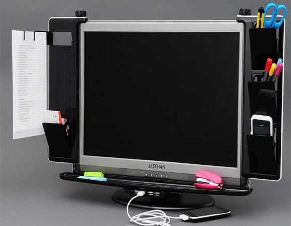 Dyne LCD Monitor Organizer with USB Hub