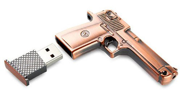 8GB Metal Gun USB Flashdrive