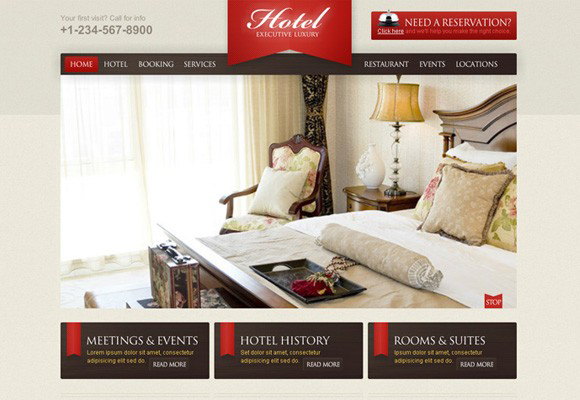 Luxury Hotel Flash Template