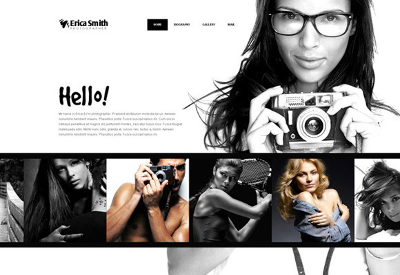 Online Portfolio Template for Photographers