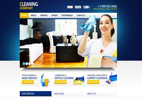 Cleaning Company Flash Template