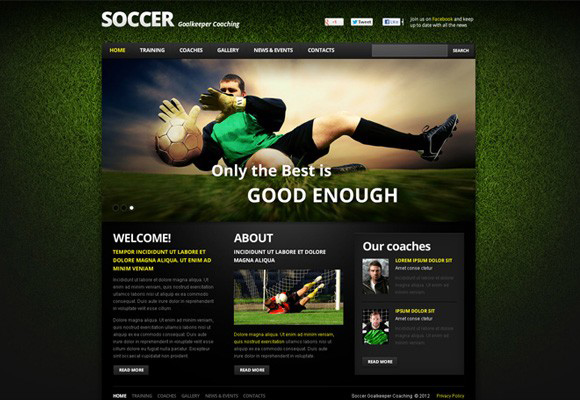 Soccer Trainings Flash Template