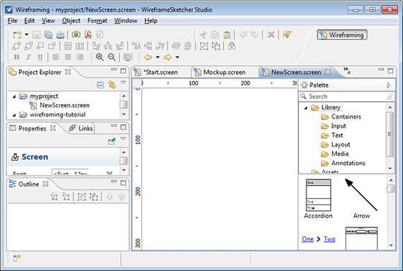 WireframeSketcher Interface