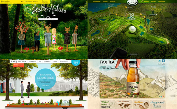 Back to Nature: Organic Themed Websites