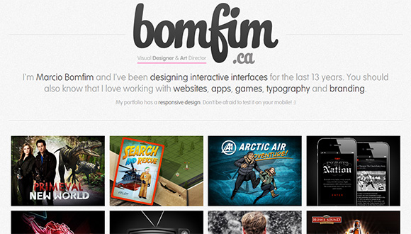 examples of portfolio design bomfim - Graphic Design Portfolio Ideas