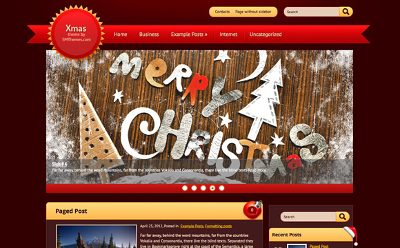 Xmas Theme by SMThemes